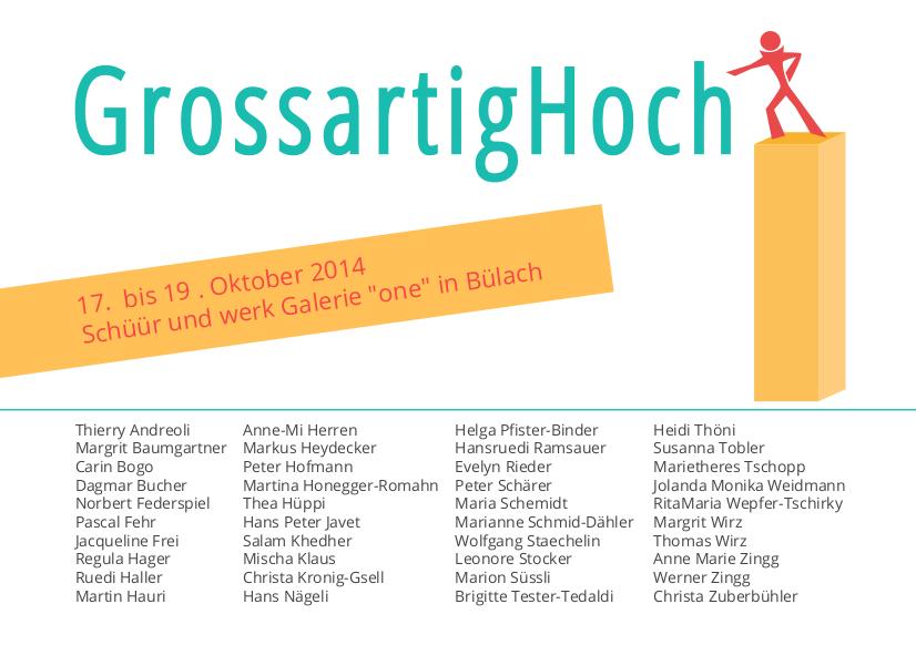 GrossartigHoch - Einladungskarte gestaltet von Priska Leutenegger